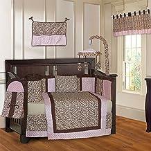 BabyFad Leopard Pink 10 Piece Baby Crib Bedding Set