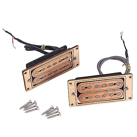 Guitarras Eléctricas De Arce Pastillas De Doble Bobina Pastillas De Mástil Y Puente Separación De Cuerdas