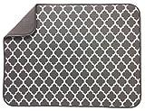 S&T Microfiber Dish Drying Mat - XL Taupe - 18