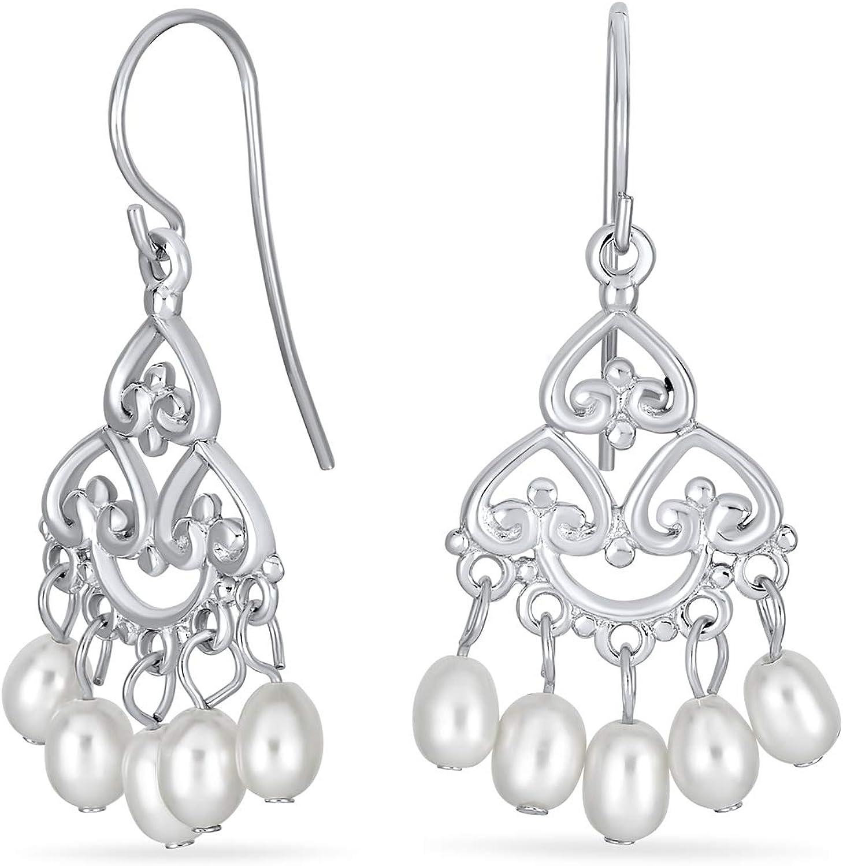 Freshwater Pearl Dangle Earrings,Sparkle Drop Earrings,Boho Earrings,Delicate Pearl Earrings,Gift,June Birthstone,Hypoallergenic Earrings