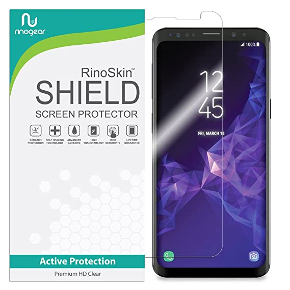 quality design 95e62 7d01e RinoGear for Samsung Galaxy S9 Plus Screen Protector Case Friendly Screen  Protector for Samsung Galaxy S9 Plus Accessory Full Coverage Clear Film