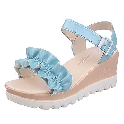 Lvguang Damen Wedges Schuhe Mode Sandalen Plateau Toe High Heels Sandalen Freizeitschuhe Abendschuhe Schuhe