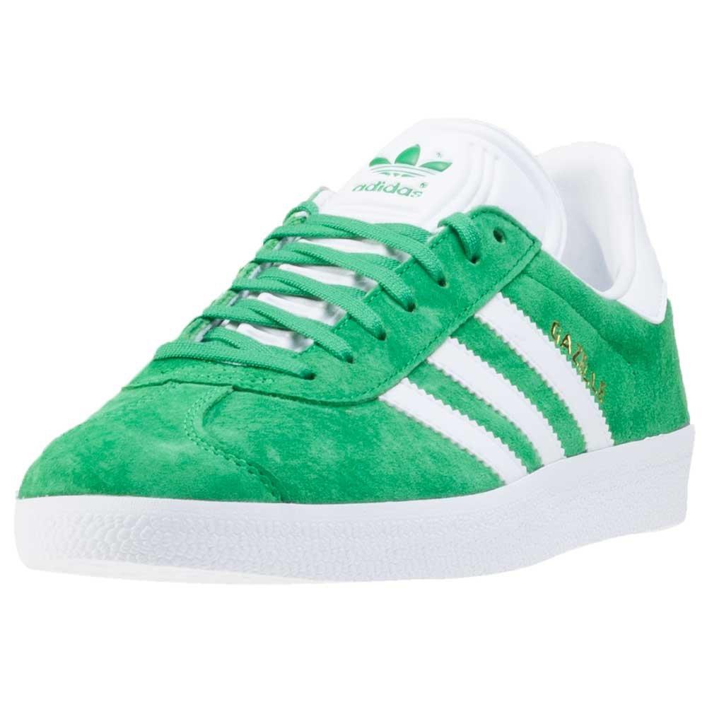 adidas Herren Gazelle Low-Top  46 EU|Green-white-gold Metallic (Bb5477)