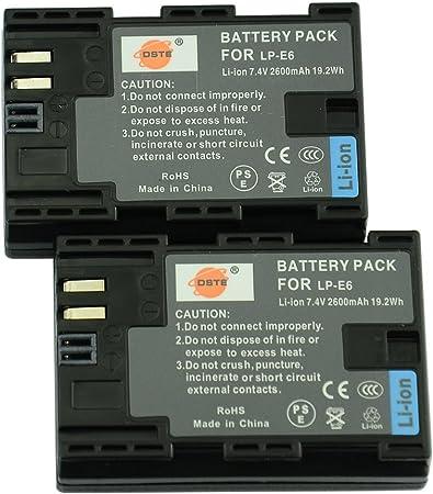 Amazon Com Dste Replacement For 2x Lp E6 Battery Compatible Canon Eos 90d 5d Mark Ii Iii 5ds 5ds R 6d 7d 60d 60da 70d 80d 7d Mark Ii Iii Xc10 Eos R