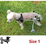 Dog Wheelchair for Dog 3-99 lbs. By Huggiecart. 8 Sizes to Select to Fit Your Dog (1-Ultra Small 9 lbs or less) review