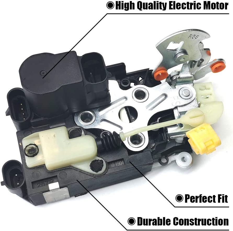FEXON 931-208 Front Left Door Lock Latch Actuator Motor Replacement for Silverado Tahoe Sierra 1500 2500 16637321
