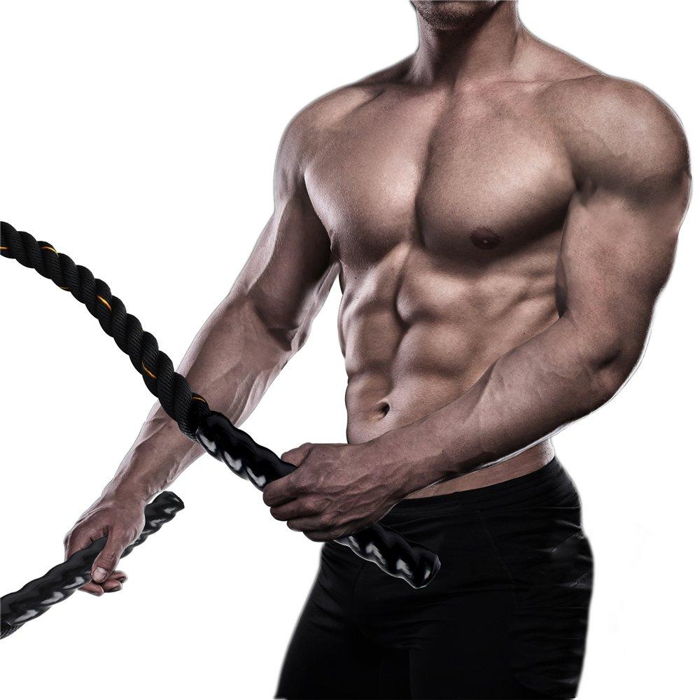 Display4top Corde de Bataille 9m//12m//15m Corde Entrainement Corde de Fitness Bataille Ondulatoire pour la Musculation Formation