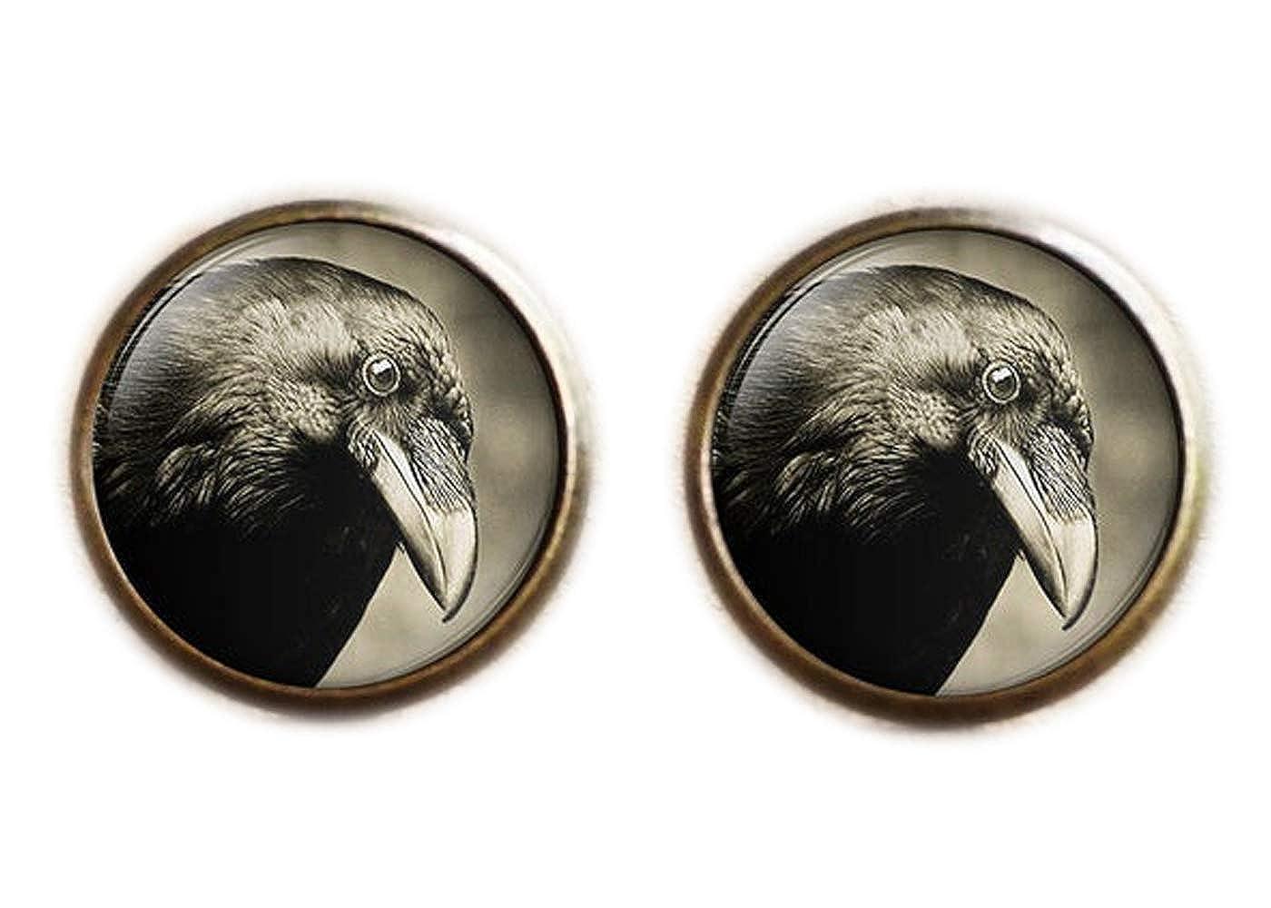 dos Bird Bijoux Corbeau Boucles doreille /à tige Raven Boucles doreille /à tige