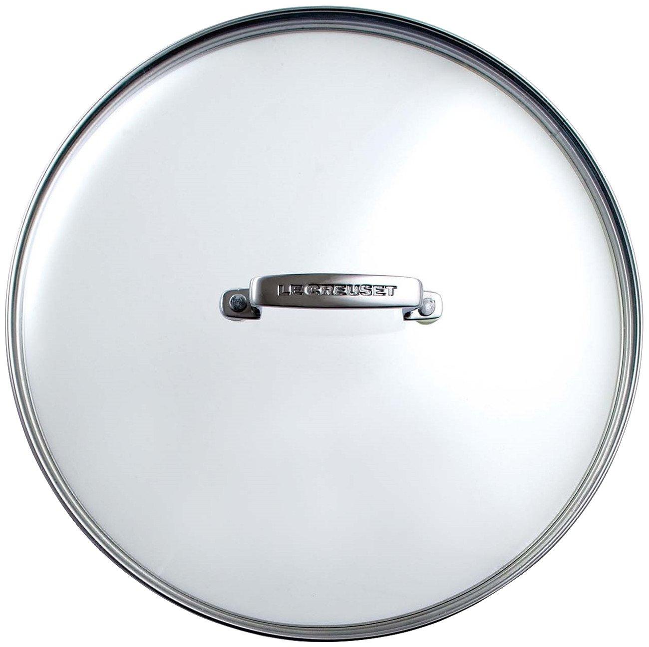 Le Creuset HA4000-28 28cm Glass Lid, Black/Silver 962008280