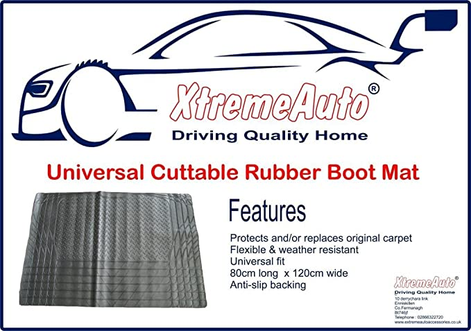 UKB4C Heavy Duty Water Resistant Car Boot Liner Mat Bumper Protector for Avensis All Models