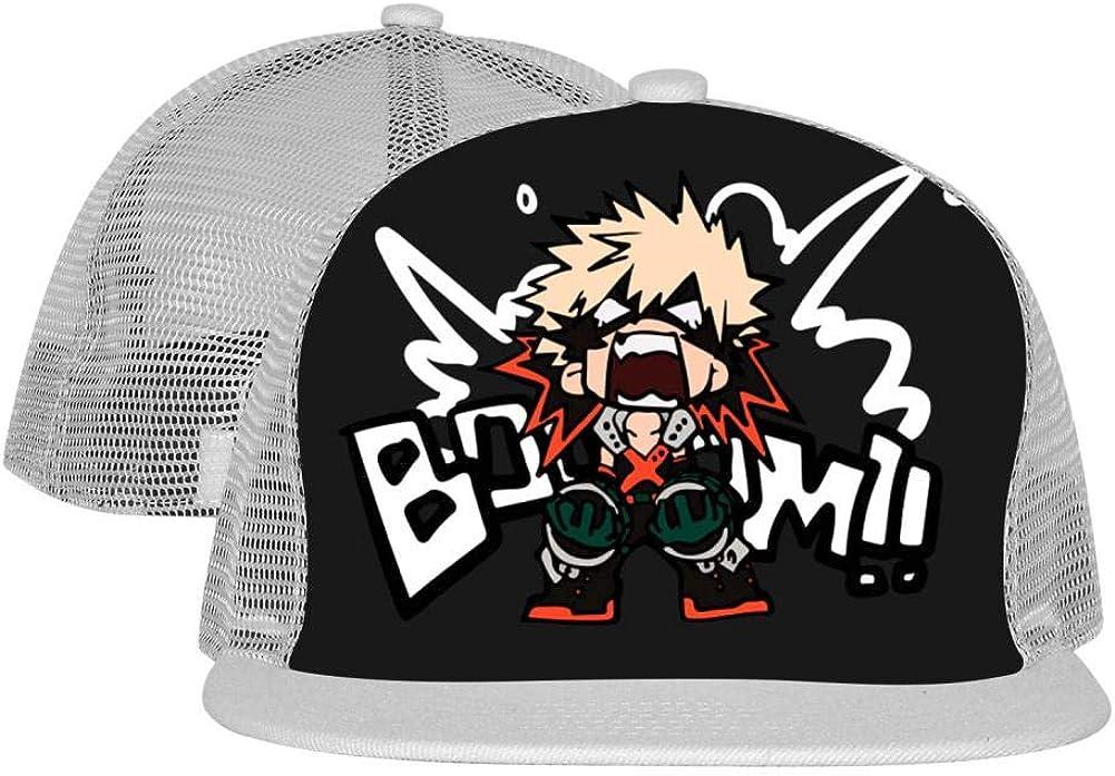 MAPICELLA My Hero/_Acade/_mia Black Unisex Mesh Cap Fitted Adjustable Fashion Baseball Hats