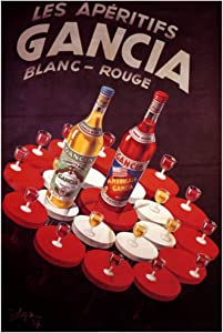 IDOLN1 Vintage Alcoholic Beverages Wine Gancia Classic Posters Wall Art Canvas Painting Home Decor Pictures Print On Canvas -20x30 Inch No Frame 1 PCS