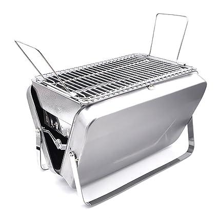 Estufa de barbacoa portátil al aire libre portátil de barbacoa gruesa de acero inoxidable 3-
