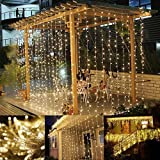 Amazon Price History for:LE LED Window Curtain Icicle Lights, 9.8ft x 9.8ft, 306 LED, 8 Modes, String Fairy Light, Warm White, String Light for Christmas/Halloween/Wedding/Party Backdrops