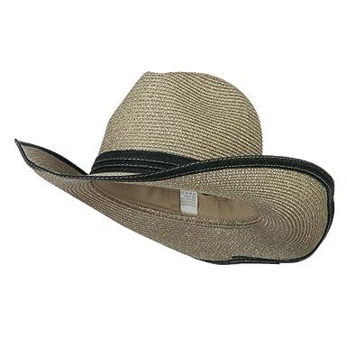 5fd5fc96b0ad8 Jeanne Simmons Metallic Women s Paper Cowboy Hat - Silver OSFM at ...