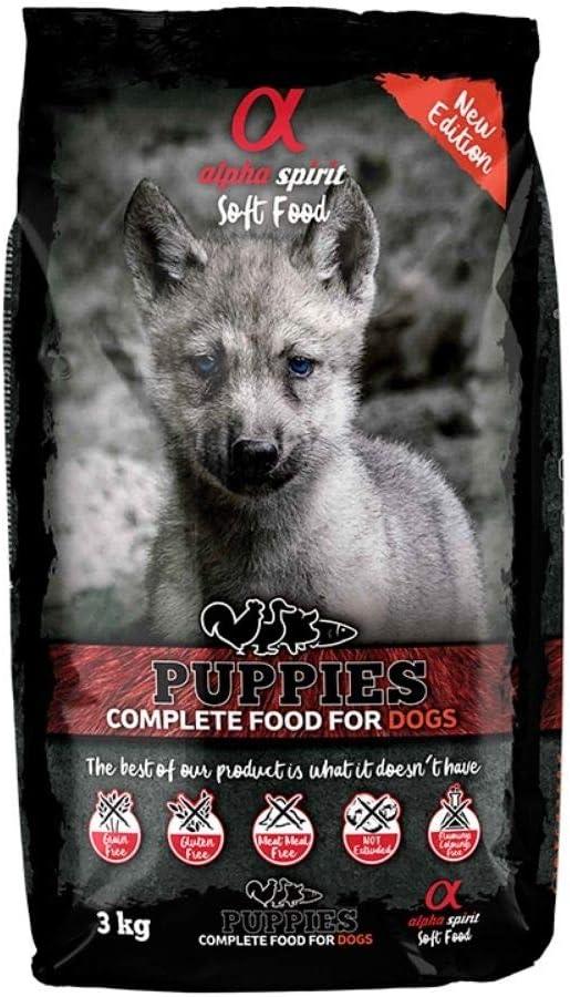 ALPHA Spirit Canine Puppy SEMIHUMEDO 1,5KG, Negro, Mediano, 1500