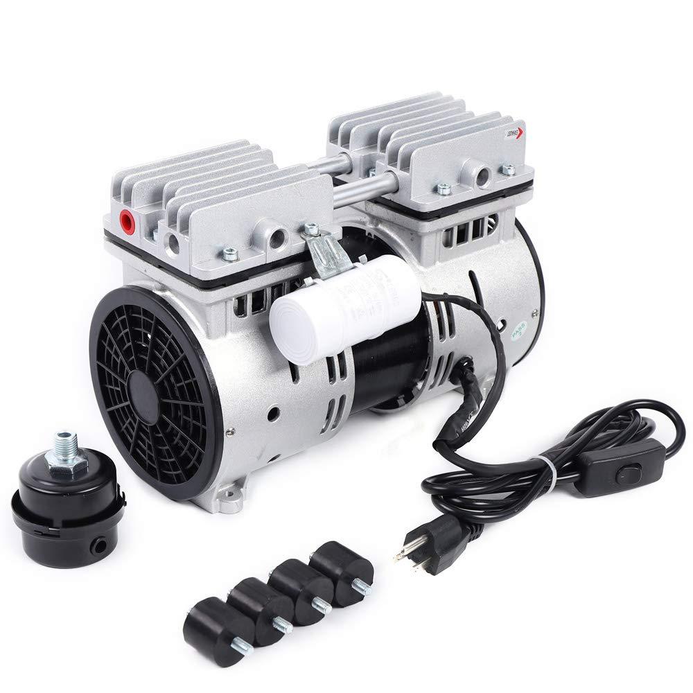 WUPYI 110V 550W Oilless Vacuum Pump,Oilfree Micro Air Diaphragm Pump Electric Motor Vacuum Pump,2.4CFM,1400 RPM,US Stock