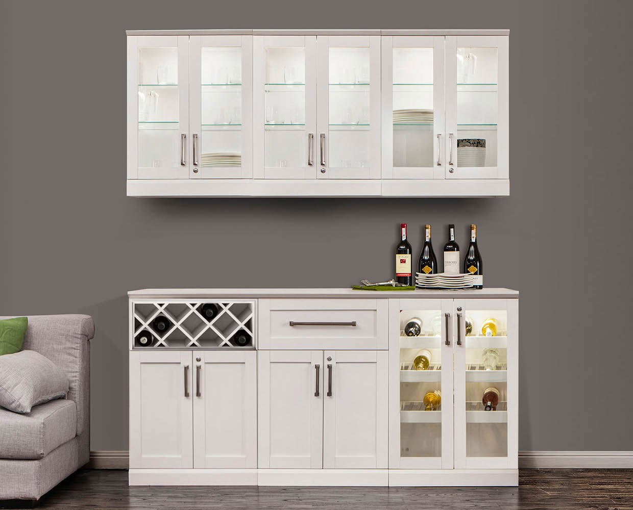 NewAge Products Home Bar Cabinet System (7-Piece Set)