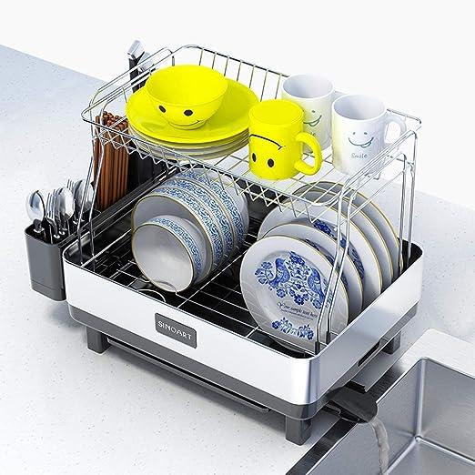 YAN Bastidor de Plato de Acero Compacto para Cocina con caño ...