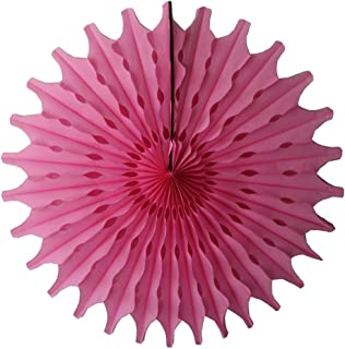 product image for Devra Party 6-Pack 18 Inch Large Honeycomb Tissue Paper Fan (Dusty Rose)