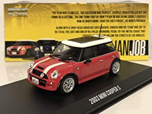 Greenlight 86547 1: 43 The Italian Job (2003) - 2003 Mini Cooper S - Red with White Stripes