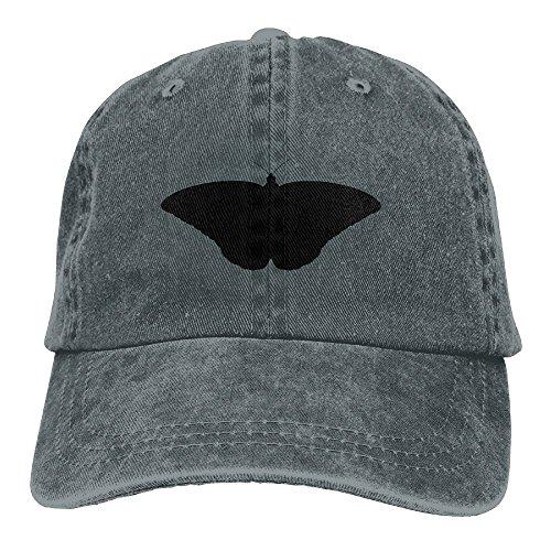 Neutral Monarch Butterfly II Silhouette Hat Cotton Denim Fabric Hat Designed Cowboy Hat (Poms Silhouette)