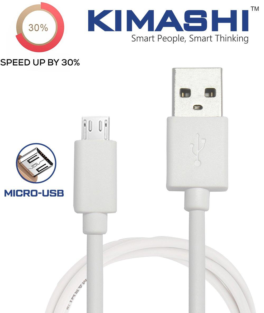 Kimashi KIMTC1W Micro USB Cable - 3.3 Feet (1 Meter) - (White)