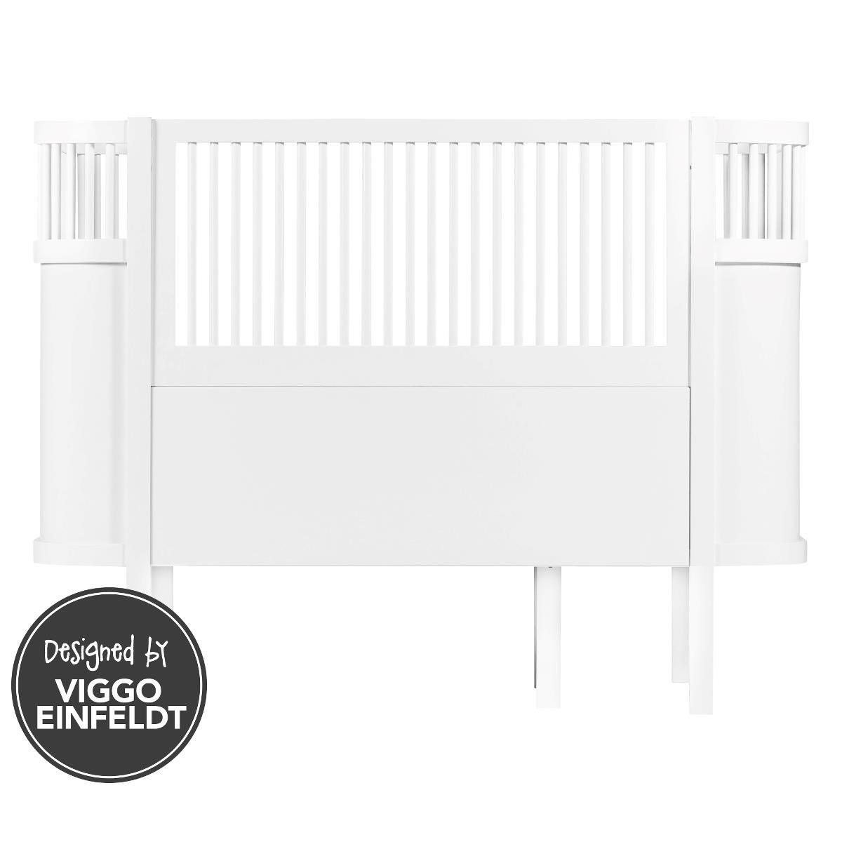 Das Sebra Bett, Baby & Junior, mitwachsendes Kinderbett, Sebra (weiß)