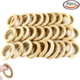 "Goodlucky 30pcs 2.2"" Natural Wood Rings Circles Unfinished Wood for DIY Pendant Connectors Jewelry Making"
