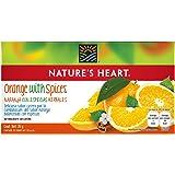 Nature's Heart Té de Naranja con Especias Herbales, Naturalmente sin Cafeína - 20 Sobres