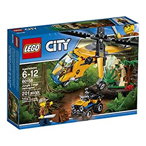 lego city jungle explorers jungle cargo helicopter 60158 building kit (201 piece) - 61JvrmPly6L - LEGO City Jungle Explorers Jungle Cargo Helicopter 60158 Building Kit (201 Piece)