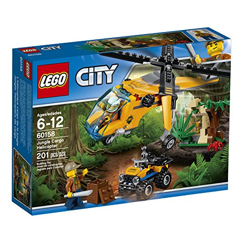 (LEGO City Jungle Explorers Jungle Cargo Helicopter 60158 Building Kit (201)