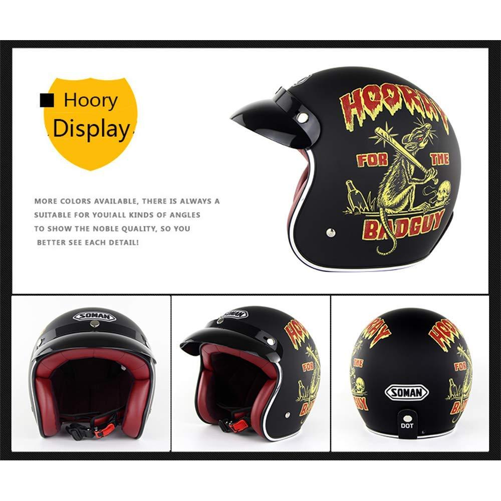 Amazon.com: Retro Harley Helmet 3/4 Open Face Motorcycle Motorcycle Helmet ECE Standard Helmet Jet Helmet Cycling Helmet with Sun Visor (S, M, L, XL, ...