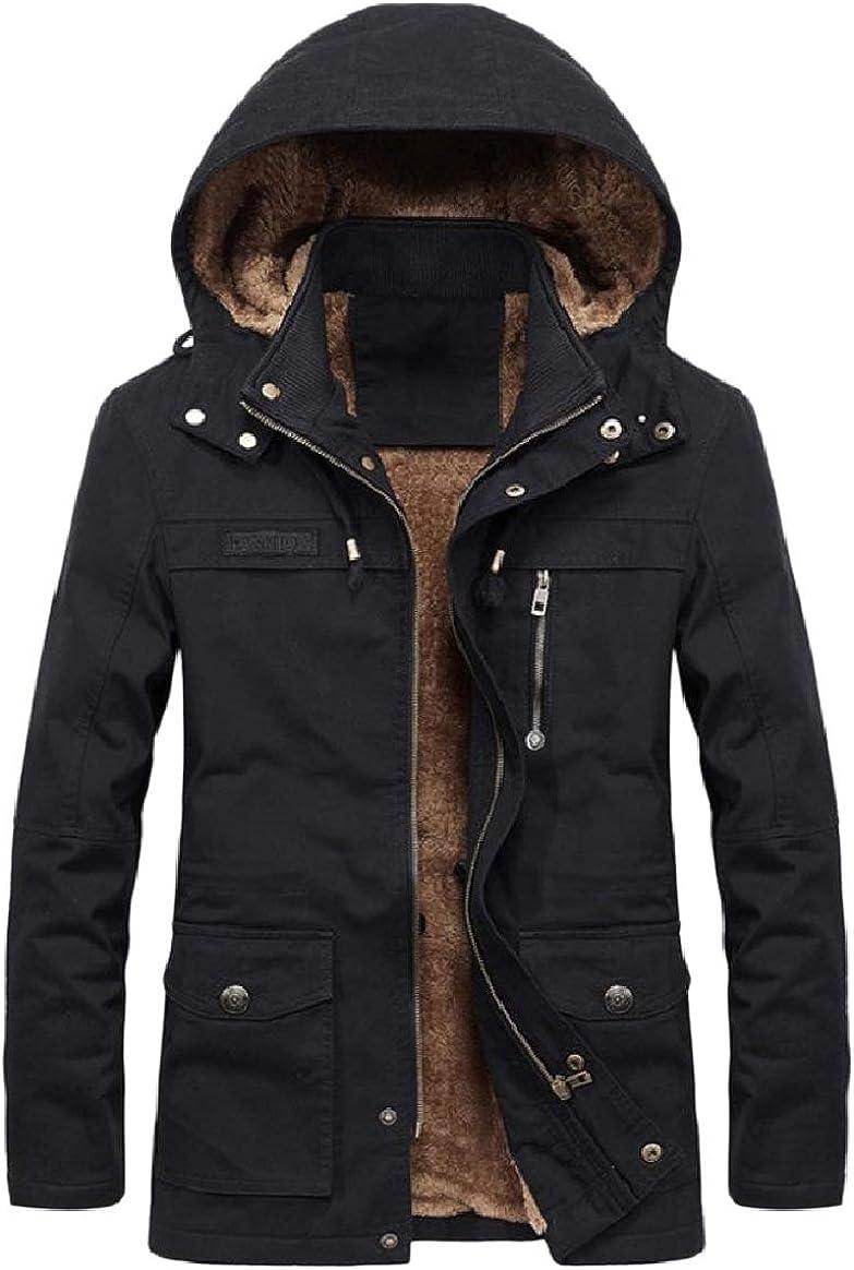 Tootless-Men Brumal Fleece Parka Jackets Thicken Hoodie Zips Casual Coat