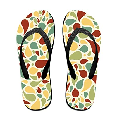 Double Happiness Summer Unisex Light Colors Petals Classical Comfortable Flat Pool Slippers