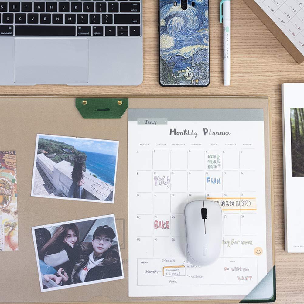 12x21inch DM/&FC Sentito Lato Stratificato Sottomano Morsetto Soldi Masto del Mouse di Office per Computer Pad Organizzatore di Planner con Pen Loop E Foglio Trasparente per Memo-Verde 31.5x53cm