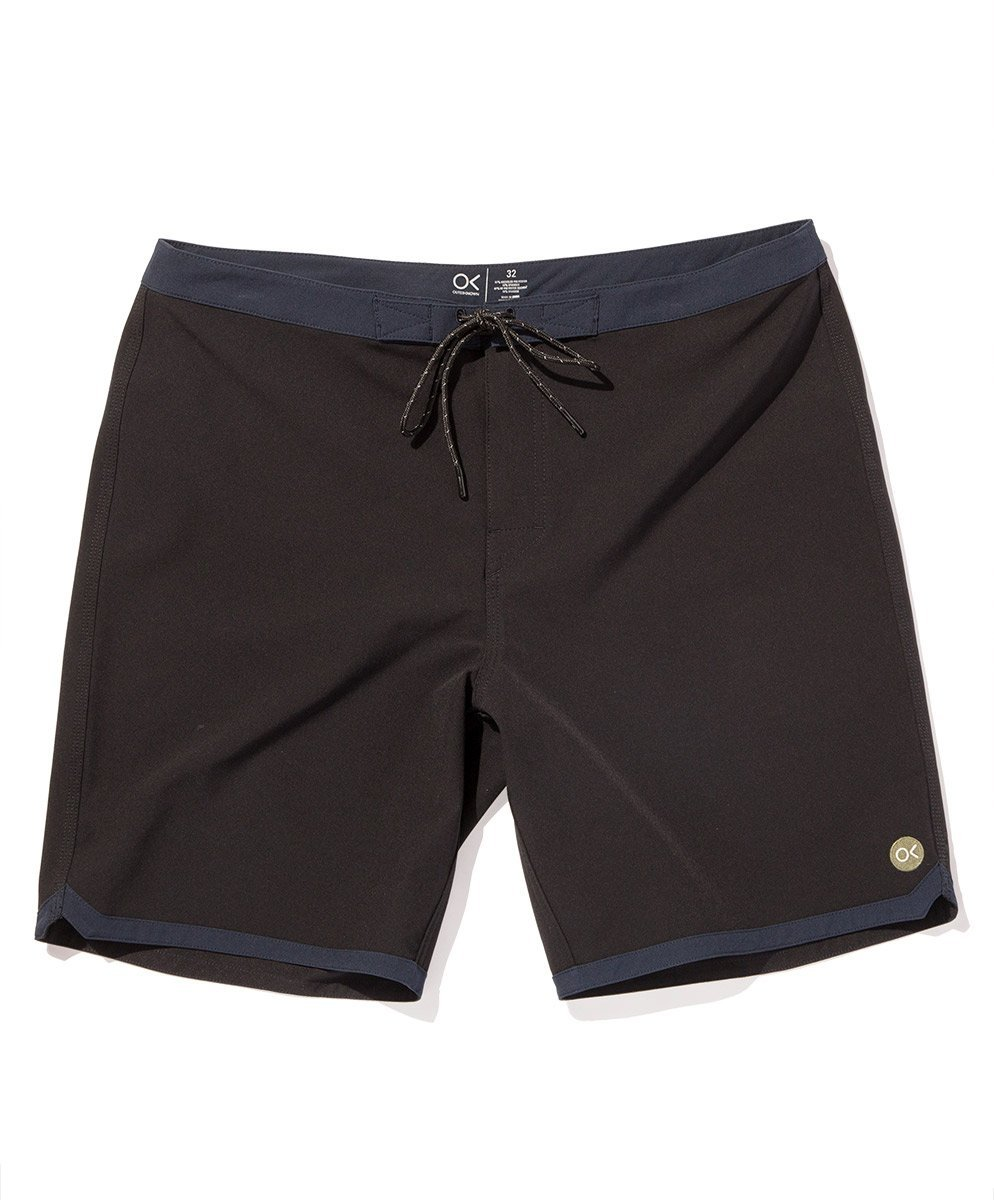 Outerknown Men's Modern Scallop Trunk, 32, Bright Black by Outerknown (Image #5)