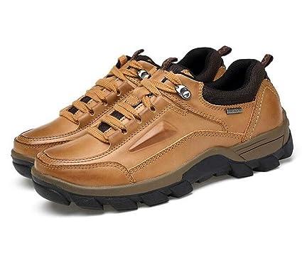 7208ca22608e5 Amazon.com: FGSJEJ Men's Outdoor Leather Hiking Shoes Breathable ...