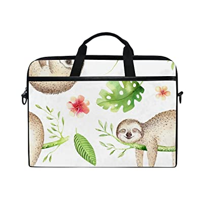 AHOMY Cartoon Baby Sloth Tree 15 Inch Laptop Shoulder Sleeve Messenger Bag Case