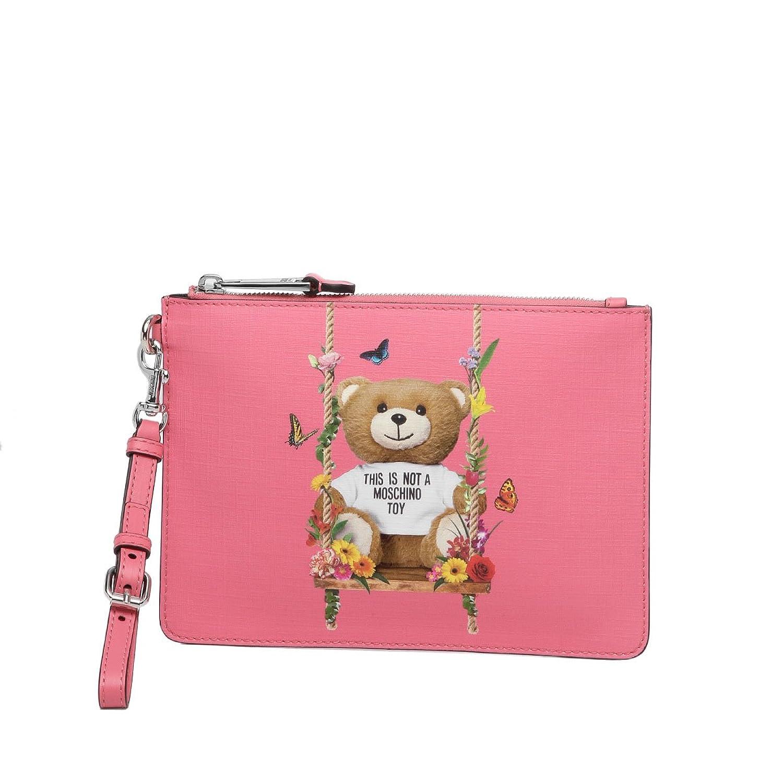 モスキーノ MOSCHINO バッグ レディース 8446 8210 1206 クラッチバッグ PINK ピンク [並行輸入品] B07DVVZ1C9