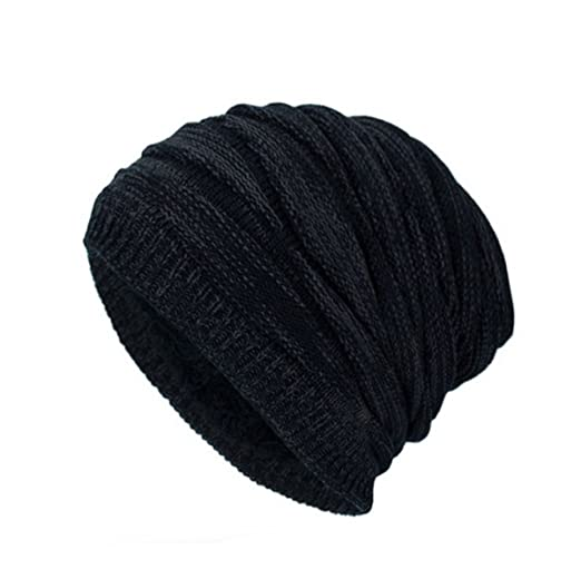 JSBKY Beanie Hat for Men and Women Winter Warm Hats Knit Slouchy Thick  Rhombus Cap ( edede2e586b2