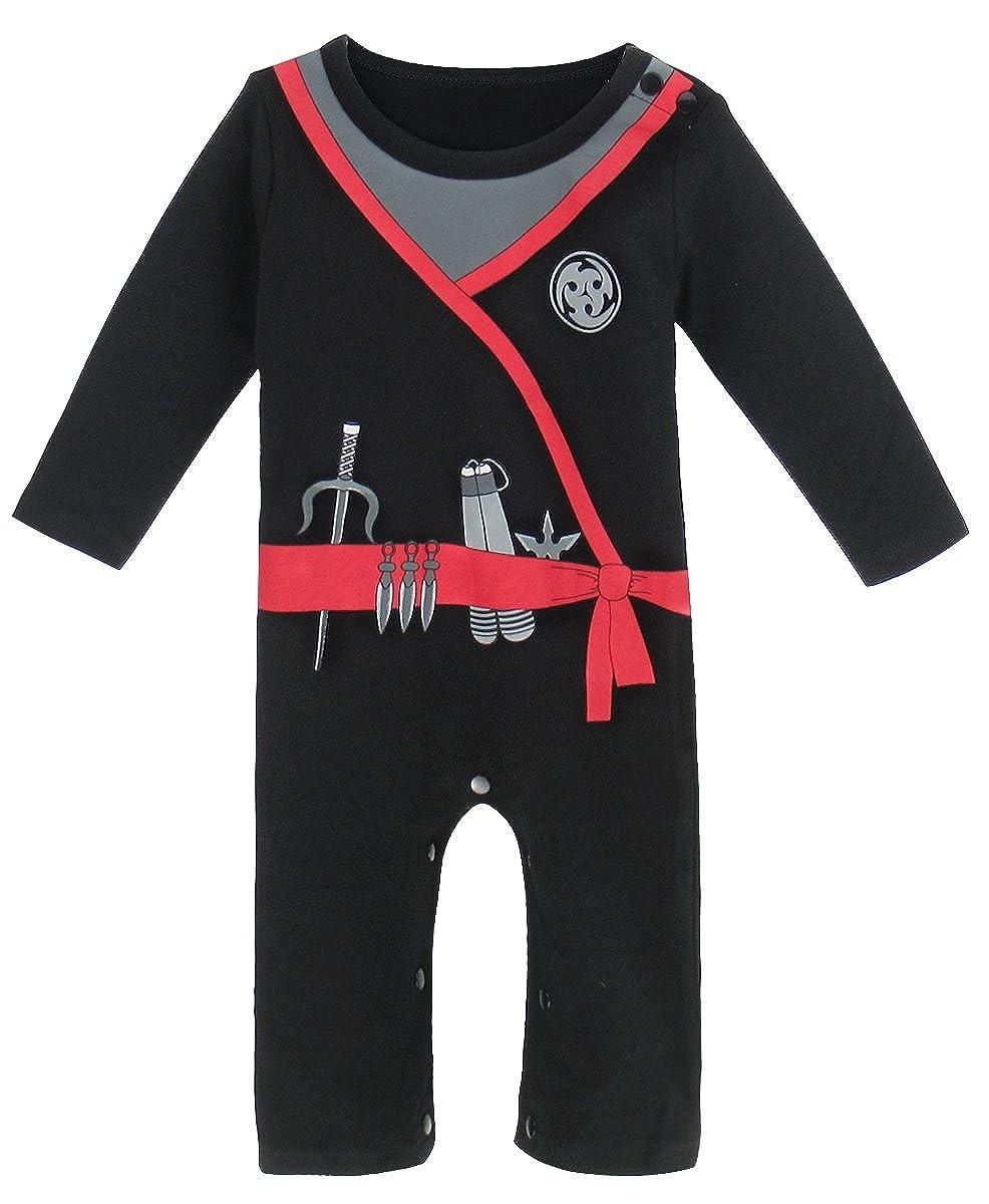 Mombebe Bambino Ragazzi Ninja Costume pagliaccetto
