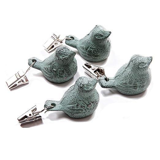 Funly mee - Juego de 4 Perchas para Mantel con diseño de pájaros ...