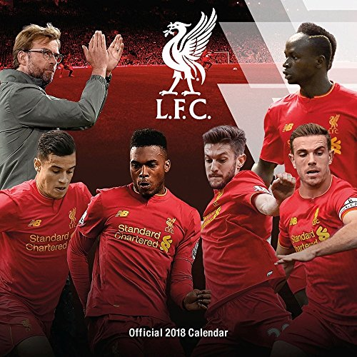 Price comparison product image 2018 Liverpool FC Soccer Wall Calendar