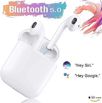 Auriculares inalámbricos Bluetooth 5.0 con Estuche de Carga portátil, Ipx7 a Prueba de Agua, Auriculares Deportivos con Sonido estéreo 3D, adecuados para Samsung/iPhone/Android/AirPods/Airpod: Amazon.es: Electrónica