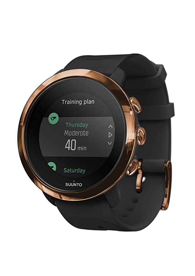 Suunto SS050209000 3 Fitness - Reloj Multideporte con GPS y pulsómetro incorporado, Pantalla Matricial, Unisex Adulto, Negro/Cobre (Copper), Talla Única: ...