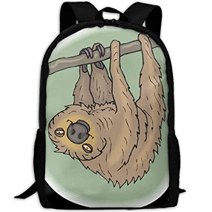 Image Unavailable. Image not available for. Color  Backpack Funny Animal  Lazy Sloth Doing Sport Womens Laptop Backpacks School Bag Travel Daypack 3cead6387570d