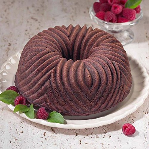 New Classic Non Stick Cast Aluminum Cake Bundt Bake Pan with Kitchen Tools Combo by FNG Homestead