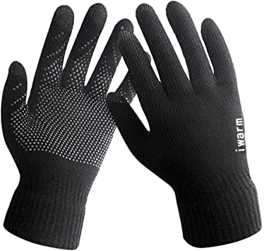 Men Knitted Gloves Thicken Winter Warm Touchscreen Glove Outdoor Cycling Mittens