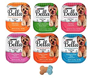 Purina Bella Small Breed Pate Dog Food Variety Pack, 6 Flavors, 12 Total Trays (3.5 Ounces)